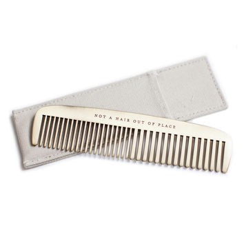 IZOLA NOT A HAIR OUT OF PLACE BRASS COMB