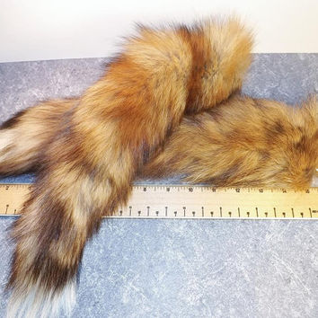 Red Fox Tail  - 14-16 inch Tail -  Animal Parts - Natural Supplies for Crafts - Rendezvous - Pow Wows - Mountain Man