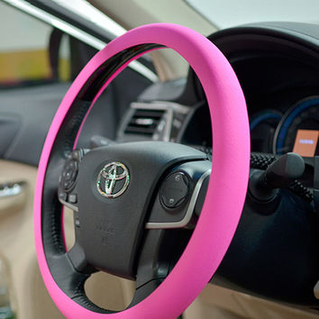 Car Styling Steering-wheel High Quality Food Grade Silicone Car Steering Wheel Cover With Skin Texture