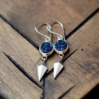 Stiletto Earrings - Cobalt