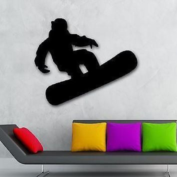 Wall Stickers Vinyl Decal Extreme Sport Winter Snowboarding Unique Gift ig984