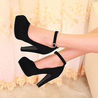 New Vogue Stiletto Strap Women Sexy High Heel Platform Pumps Shoes Buckle Ladies