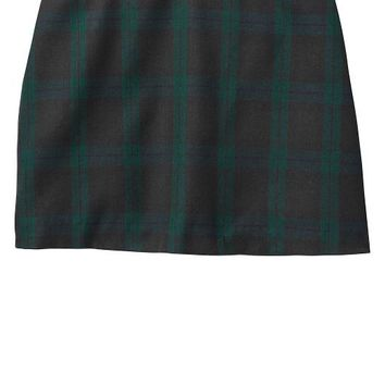 Gap Girls Factory Plaid Mini Skirt