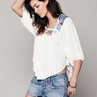 Free People Free Bird Embroidered Top