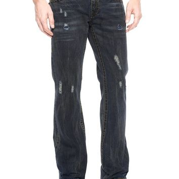 True Religion Hand Picked Bootcut Big T Mens Jeans - Battleground
