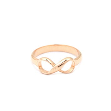 Tiffany & Co. Inspired Infinity Ring, Rose gold over 925 Sterling silver infinity ring, Infinity ring, personalized infinity ring, Vermeil