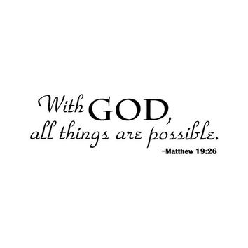 With God Home Decor Wall Sticker Decal Bedroom Vinyl Art Mural