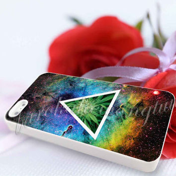 Hipster galaxy triangle WEED - For iPhone 4/4s, iPhone 5/5S/5C, Samsung S3 i9300, Samsung S4 i9500 Hard Case