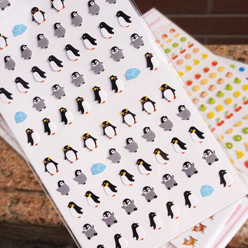 Cute Mini-Penguin stickers/ Super Mignon Penguin coréen autocollant/mini animal stickers/penguin stickers
