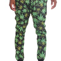 Magic Leaf Print Fleece Jogger Pants JG727 - T1I