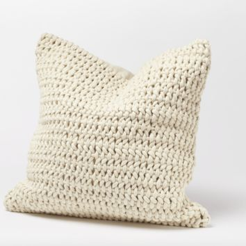 Woven Rope Undyed Organic Pillow