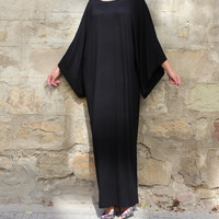 Black Maxi Dress, Caftan, Abaya, Plus size dress, Plus size clothing, Elegant dress, Plus size maxi dress, Kaftan, Party dress, Long dress