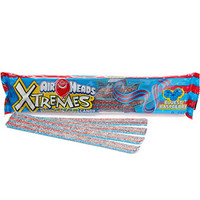 AirHeads Xtremes Sour Belts 2-Ounce Packs - Blue Raspberry: 18-Piece B