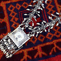 Kashmiri Necklace Chain Ethnic Amulet Tribal Belly Dance Afghan Kuchi Boho Gypsy