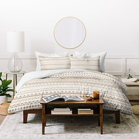 Allyson Johnson Tan Aztec Duvet Cover