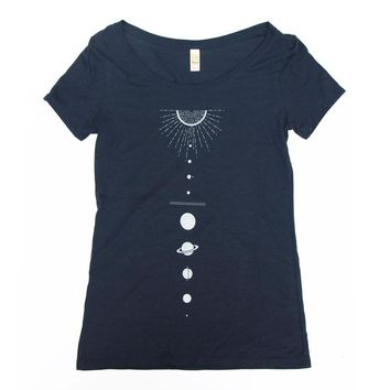 Solar System - Women's Scoop Neck T-Shirt