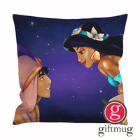 Aladdin and Jasmine, A Whole New World Cushion Case / Pillow Case