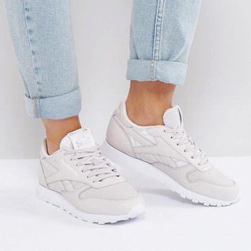 Reebok Classic Leather Texture Sneakers In Lilac at asos.com