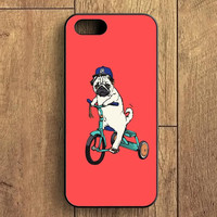 Funny Pug Riding iPhone 5S Case