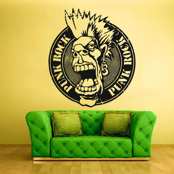 Wall Vinyl Sticker Decals Decor Art Bedroom Design Mural Design Rock n Roll Emblem Logo Man (z419)