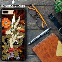 Wile E Coyote Falling Off Cliff Looney Tunes D0073 iPhone 7 Plus Case