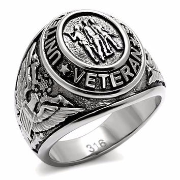 Veteran United States Military Ring Stainless Steel