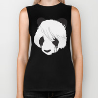 Sad Panda is Sad Biker Tank by Budi Satria Kwan