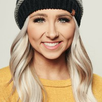 Becky Hair Knitted Beanie (Black)