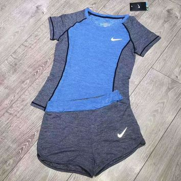 One-nice™ NIKE Women Sportswear running yoga Two-Piece for women set H-YF-MLBKS
