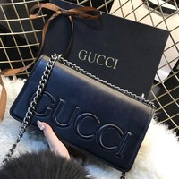 Gucci Fashion Women Shopping Chain Bag Shoulder Bag B-MYJSY-BB Black