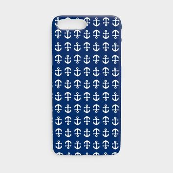 Anchor Toss Cell Phone Case iPhone 7 / 8 - White on Navy