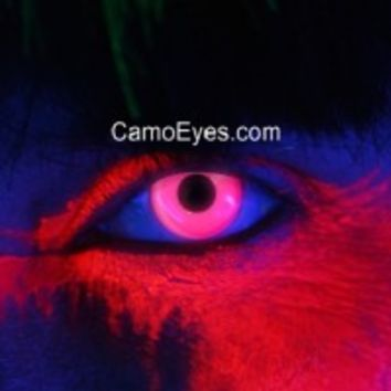 Pink UV Glow Contacts || Crazy Colored Contact Lenses