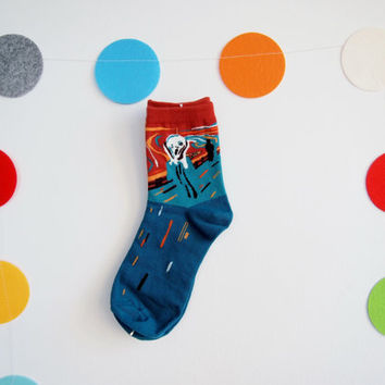 The Scream Artistic Socks