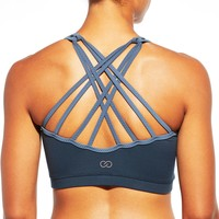 CALIA by Carrie Underwood Women's Inner Power Strappy High Neck Sports Bra