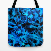 Blue Flowers Tote Bag by Page394