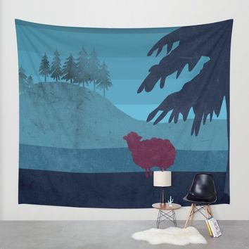 Sheep you are not alone Wall Tapestry by Xiari | Society6