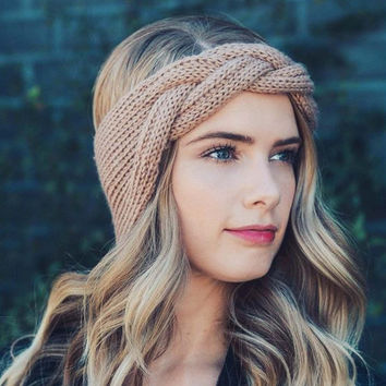 Fall Festival Headwrap in Wheat