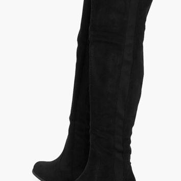 Jessica Flat Over The Knee Boot | Boohoo