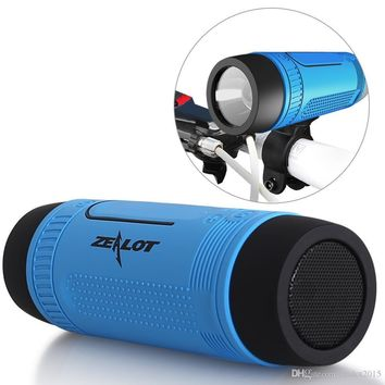 Bicycle Bluetooth Speaker (Sport) HD Stereo - LED Flashlight - Power Bank Microphone for iPhone - Samsumg - PC