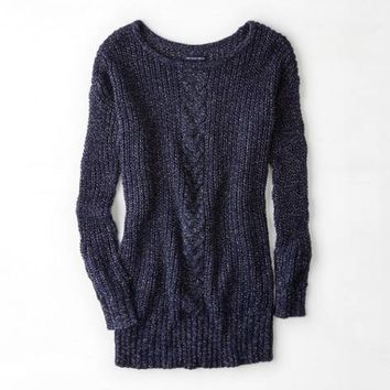 AEO CABLE FRONT SWEATER DRESS