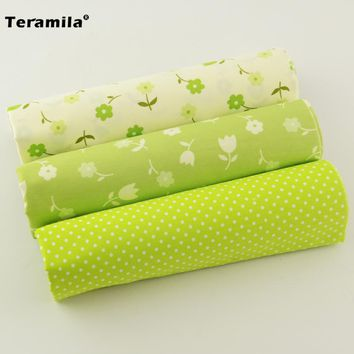 New Arrivals 3Pieces/lot  Pretty Flowers and Leaf Pattern Teramila 100% Cotton Fabric Quilts Cushion Bedding Children Cloth Toy