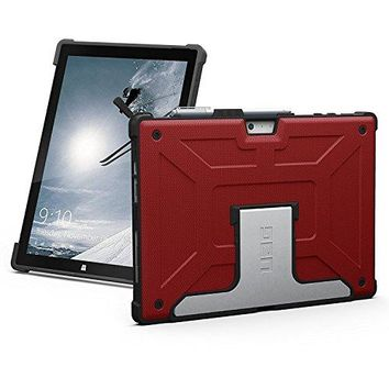 UAG Microsoft Surface Pro (2017) & Surface Pro 4 Feather-Light Metropolis Rugged [MAGMA] Aluminum Stand Military Drop Tested Case