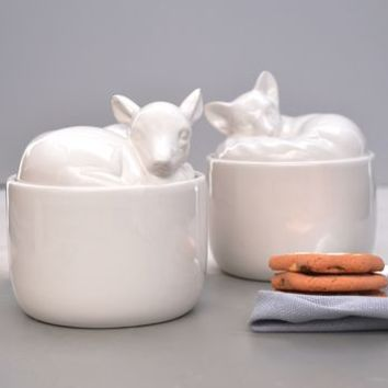 Ceramic Animal Storage Pots