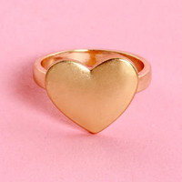 Wanna Be Heartin' Something Gold Heart Ring