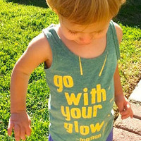 Toddler Tank Top Childrens Tanktop Kids Clothes Maman Jolie Be Like Mommy and Go With Your Glow TShirt