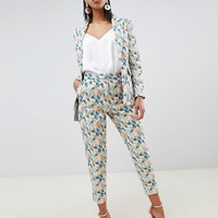 ASOS DESIGN tailored jacquard wisteria pants two-piece | ASOS