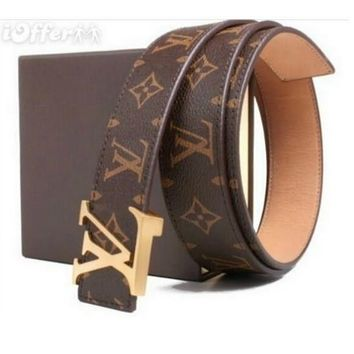LOUIS VUITTON M0065 MEN/WOMEN GENUINE LEATHER BELT
