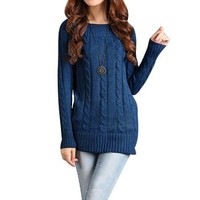 Little Hand Women's Long Sleeve Knit Casual Stretch Pullover Sweaters