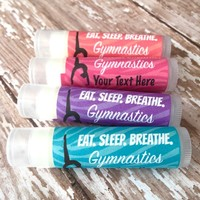 Gymnastics Custom Lip Balm | Gymnastics Team Favors | Free Customization