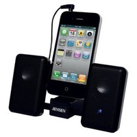 Jensen System Portable Stereo Speakers for iPhone/iPod - Black (SMPS-225)